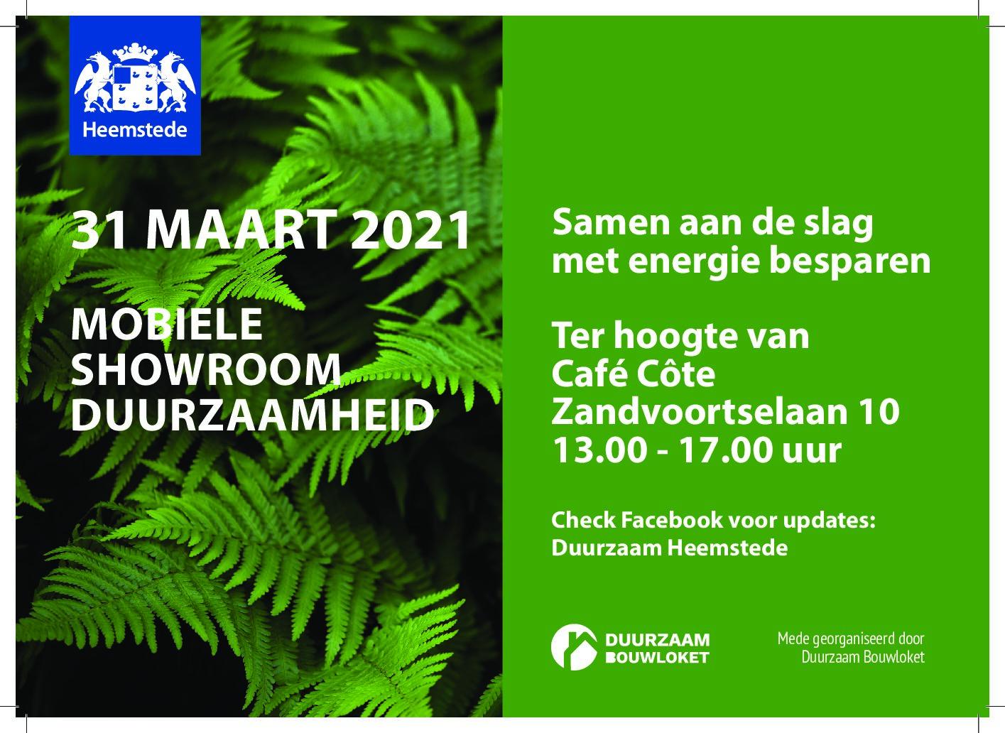 Hij is er weer: de mobiele showroom over duurzaamheid in Heemstede
